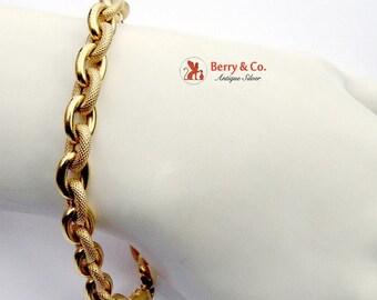 SaLe! sALe! Chunky 14 K Gold Chain Bracelet