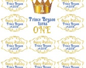 Prince Backdrop, First Birthday Prince Party, Large Vinyl Backdrop for Baby Shower, Family pictures, Photo Booth Banner, Royal Prince Theme