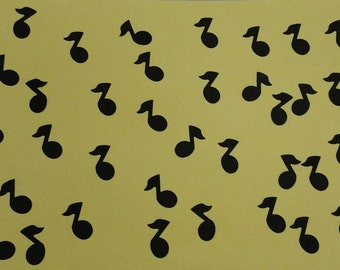 Set Of 250 Musical Quaver Notes Cut From Black Card Stock - Music Party - Birthday Confetti - Table Scatter - Endless Possibilities