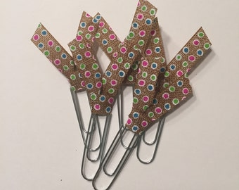 Cute planner clips // cute planner ribbon // planner clips // filofax clips // stylish planner clips // planner accessories