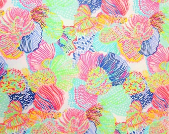 "18"" x 18"" Lilly Pulitzer Cotton Dobby Fabric Multi Roar Of The Seas"