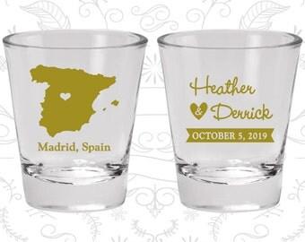 Spain Shot Glass, Spain Shot Glasses, Spain Glass, Spain Glasses, Spain Glassware (192)