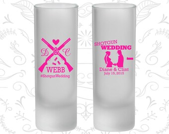Shotgun Wedding, Frosted Shooter Glass, Country, Southern Wedding, Redneck (562)
