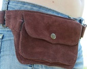 Gema Suede Utility Belt / Festival Belt / Pocket Belt / Bum Bag / Hip Bag / Festival Fanny Pack