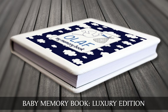 Baby keepsake book, Baby boy memory book, Blue clouds baby book, Baby first year book, Baby record book, Baby boy journal, Baby boy diary