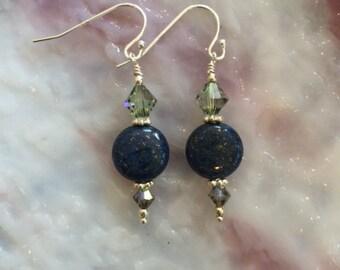 Lapis Lazuli Sterling Silver Earrings (E4)