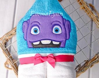 Alien kids hooded towel, hooded bath towel, hooded beach towel, hooded pool towel, personalized kids towel, birthday gift, christmas gift