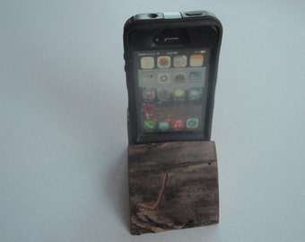 rustic iphone stand
