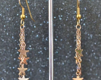 Goldfill Star Shower Earrings
