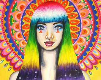 SEPHORA Mandala Goddess - Signed Art Print