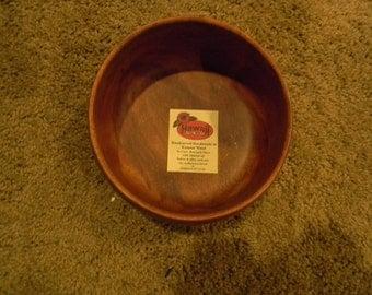 Vintage beautiful Kamani Wood hawaiian Serving Dish/Bowl Measuring 6 Inches in Diameter Designed by KA Group of Kamani Wood Handcarved