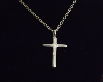 sterling silver cross, chain not included
