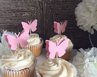 1 dozen Butterfly Cupcake Toppers