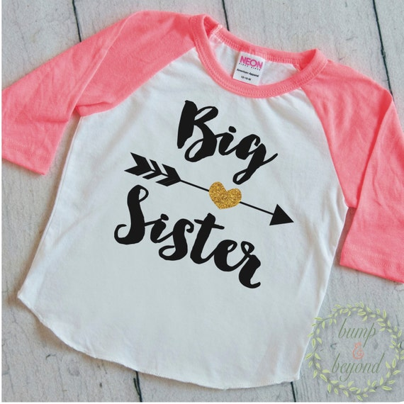 Big Sister Shirt Baby Announcement Shirt Girl Sibling
