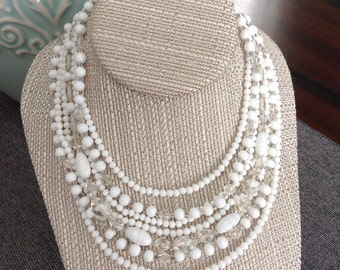 Vintage Japan Multistrand Bridal Necklace