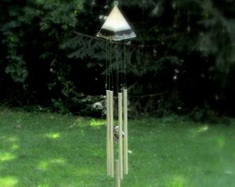 Orgone Pyramid Wind Chimes Feng Shui Prosperity Windchimes Glow in the Dark Orgone Wind Chime