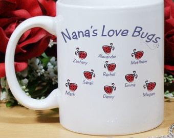 Personalized Love Bugs Mug