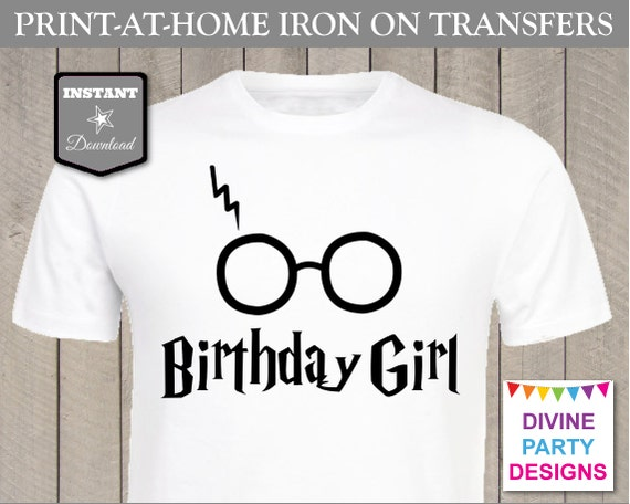 Instant download print at home birthday girl printable for Instant t shirt printing