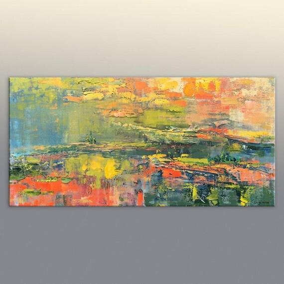 Abstract Canvas Art Kitchen Decor Original Painting