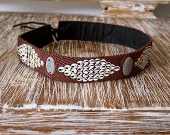 Cowrie Shell Belt - Gypsy Belt - Boho Belt - Beaded Belt