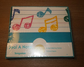Sangamon Vintage Postalettes Note Cards Featuring Music Notes