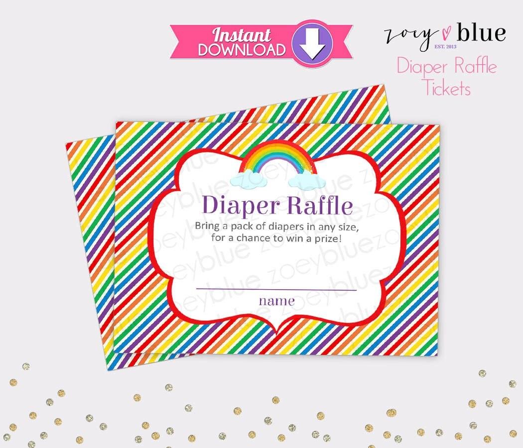 rainbow diaper raffle tickets gender neutral baby shower games rainbow diaper raffle tickets gender neutral baby shower games printable diaper raffle ticket diy printable file instant