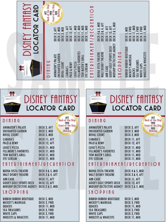 Disney Locator Cards