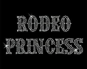 Rhinestone Transfer - Hot Fix Motif - Rodeo Princess