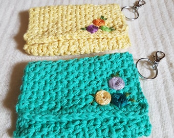 Coin Purse - Credit Card Wallet, Pouches, Key Ring, Keychain