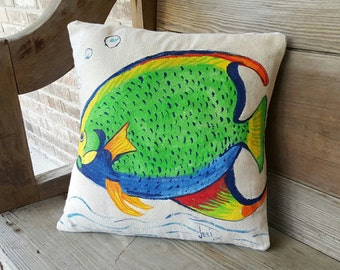 Hand Painted Fish Tropical Cover