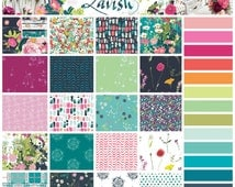 LAVISH by Katarina Roccella - Art Gallery - COMPLETE Fat Eighth Bundle Collection including coordinating solids