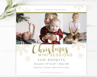 DIY - Christmas Mini Session Template - Instant Download