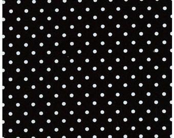 Robert Kaufman Black Polka Dot Pimatex Basics 100% Cotton Fabric Pattern #BKT-6003-2