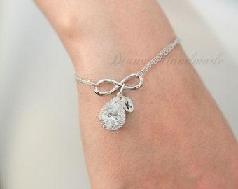 Bridesmaids Jewelry, Bridesmaids bracelet, Personalized Bridesmaid Gift, wedding bracelet, bridal jewelry, wedding accessories, Bridesmaid