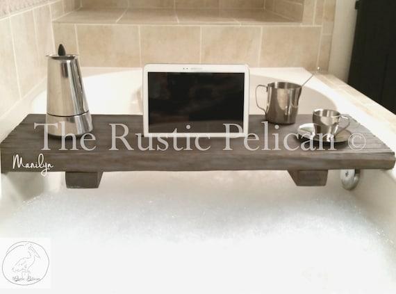 Rustic Bathtub Caddy Wood Bathtub Tray Bath Shelf