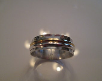 Sterling and 24K gold Vermeil Spinner ring