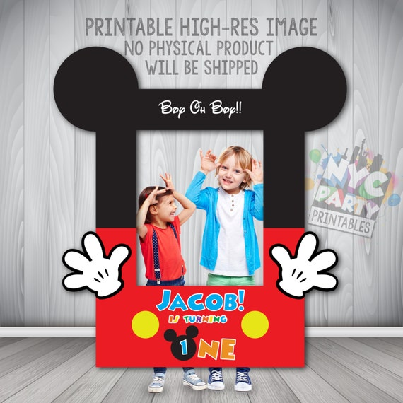 Mickey Mouse Photo Booth, Photo Booth Frame Printable, DIY Photo ...