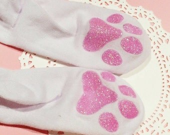 Thigh high kitten socks glitter!