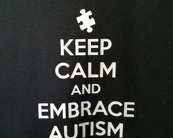 Autism Awareness T-Shirt - Adult - Keep Calm