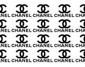 CHANEL Themed Vinyl Decals (set of 12)