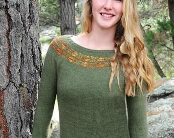 Diamond Yoke Sweater knitting pattern 084