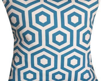 Designer retro Teal Turquoise geometric scandinavian luxury new pattern funky cushion cover