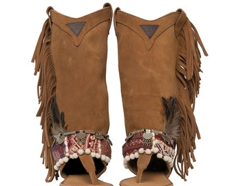 High west Tribal Sandals Layer boots