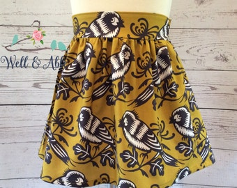 Mustard bird skirt