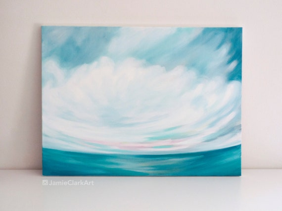 "Original 18x24 Painting ""Cloudscape No. 3"" FREE SHIPPING"
