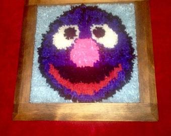 Vintage Sesame Street Grover hook latch complete