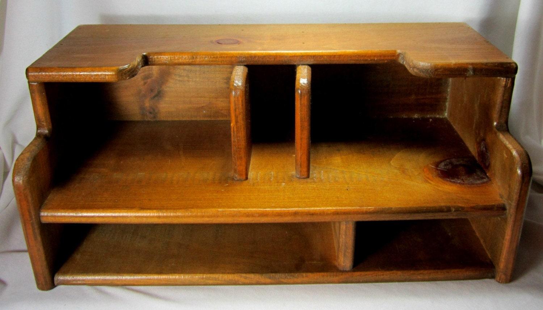 Wood Desk Organizer Work At Home Office Desk Accessories