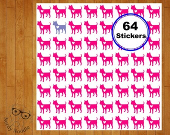 Chihuahua Planner Stickers, 64, Chihuahua Stickers, Chihuahua Sticker Set, Chihuahua Envelope Seals, Chihuahua Envelope Stickers, Chihuahua