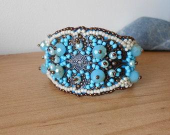 BRONZ FILIGREE with Turquoise Bracelet