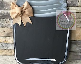 Chalkboard Mason Jar door hanger, summer door hanger, summer wreath, southern door hanger